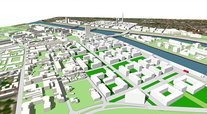 etude d'insertion urbaine du nouveau quartier de gare de Rouen