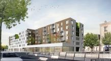 Logements de Brenac & Gonzales, Bouwfonds Marignan, dans la ZAC Centre - Sainte geneviève à Nanterre
