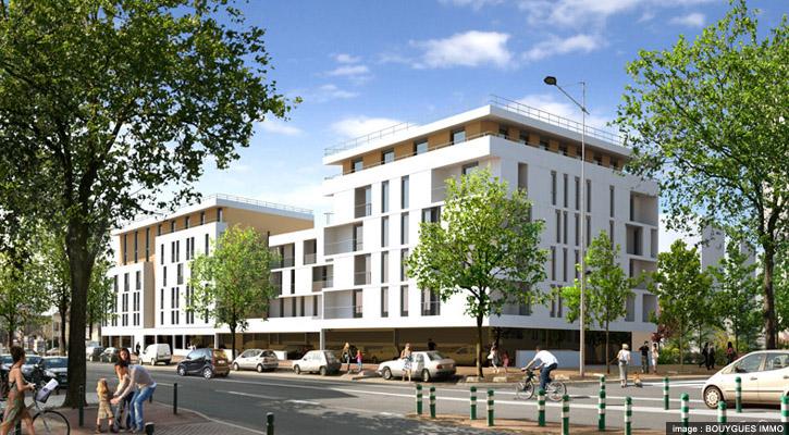 logements de Dolle-Labbe, Bouygues Immo dans la ZAC Centre - Sainte geneviève à Nanterre