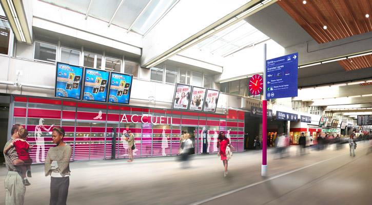 Nouvelle identité de la gare SNCF Paris Montparnasse