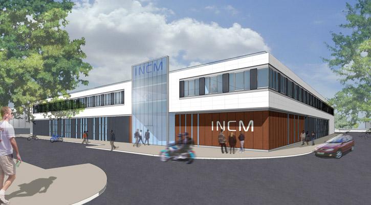 perspective sur l'entrée principale INCM le Bourget