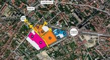 Plan de situation de la ZAC Centre - Sainte geneviève à Nanterre