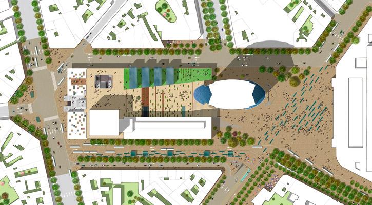 Plan masse for Plan interieur gare montparnasse