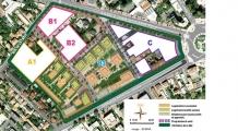 Plan masse de la ZAC Centre - Sainte geneviève à Nanterre