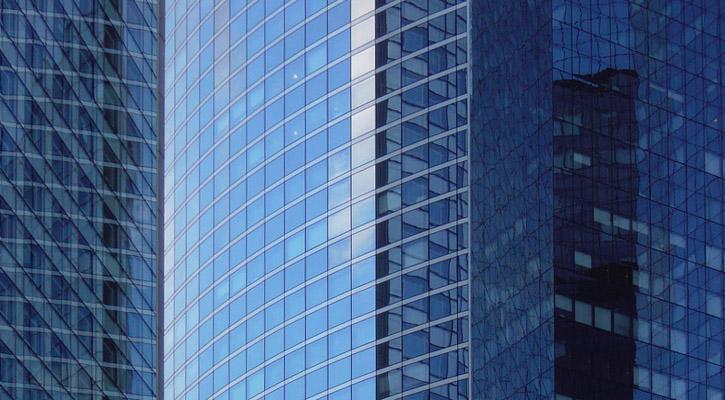 reflets sur la Défense Paris