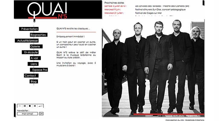 Site Internet Quai n°5