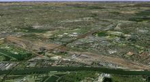vue aérienne de l'Arc Central