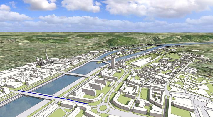 Vue du quartier administratif de Rouen